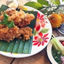 青芒果膨魚酥 / Crispy Catfish Salad with Green Mango / ยําปลาดุกฟู