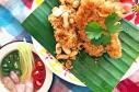 青芒果膨魚酥 / Crispy Catfish Salad with Green Mango / ยําปลาดุกฟู