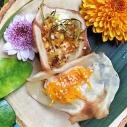 雙餡瓦片薄餅 / Thai Crisp Tart / ขนมเบื้องไส้หวานและไส้เค็ม