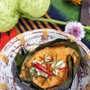 紅醬蒸鱸魚 / Thai Steamed Curried Fish / ห่อหมกปลาช่อน่