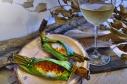 烤糯米鹹餡 / Grilled Stuffed Sticky Rice Wrapped in Banana Leaves / ข้าวเหนียวปิ้งไส้กุ้ง