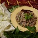 東北酸辣鴨肉末 / Spicy Duck Salad / ลาบเป็ด