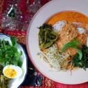 咖哩魚米線 / Rice Noodle with Fish Curry / ขนมจีนน้ำยากะทิ