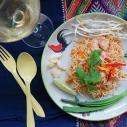 傳統鮮蝦米線酥 / Antique Frame with Crispy Rice Noodles / หมี่กรอบโบราณ